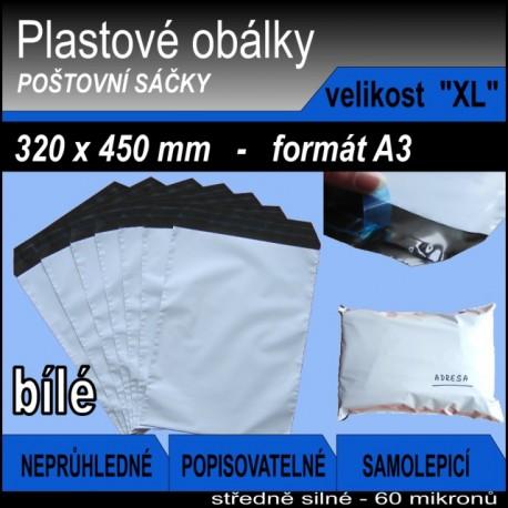 Plastová obálka vel. XL (320 x 450 mm), formát A3