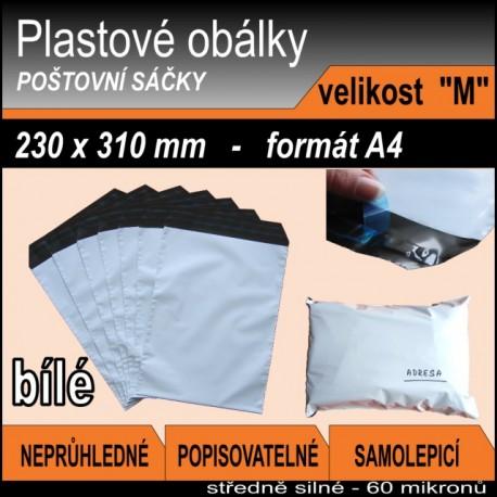 Plastová obálka vel. M (230 x 310 mm), formát A4