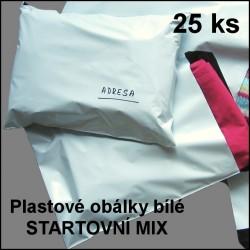 Startovní MIX - plastové obálky bílé, formáty A5 - A2, 25 kusů