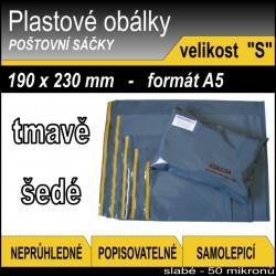 Plastové obálky ECONOMY šedé, vel. S (190 x 230 mm), formát A5, 1ks