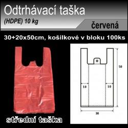 Odtrhávací tašky 10 kg, HDPE, košilka 100ks, 30+20x50cm