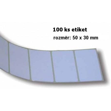 Etikety bílé - pás 100 ks, 50x30mm
