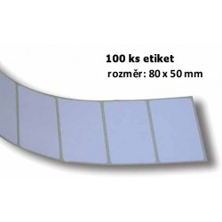 Etikety bílé - pás 100 ks, 80x50mm