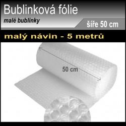 Bublinková fólie šíře 0.5 metru, návin 5 metrů