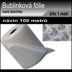 Bublinková fólie šíře 1 metr, návin 100 metrů, 2 vrstvy, 40my