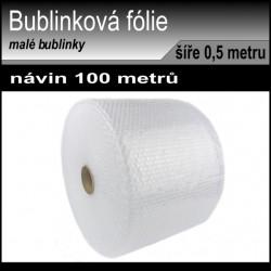 Bublinková fólie ROLE šíře 0.5 metri, návin 100 metrů, 35 my