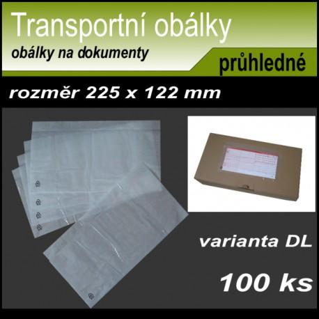 Transportní obálka na dokumenty 225x122 mm, formát DL, 100 kusů