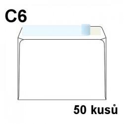 Obálka dopisní C6 samolepící s krycí páskou, 114x162 mm, 50 ks
