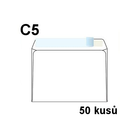 Obálka dopisní C5 samolepící s krycí páskou, 162x229 mm, 50 ks