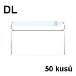 Obálka dopisní DL samolepící s krycí páskou, 110x220 mm, 50 ks