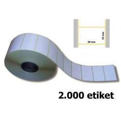 Etikety 32 x 16 mm, papír bílý, 2000 ks na kotouči