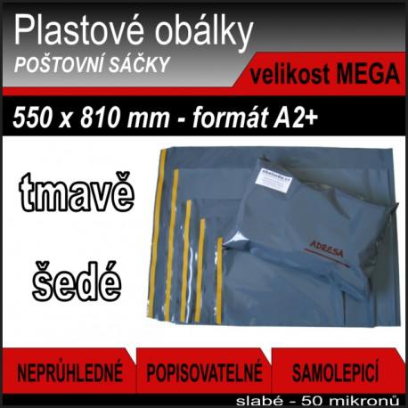 Plastové obálky ECONOMY šedé, vel. MEGA (550 x 810 mm), 1 ks