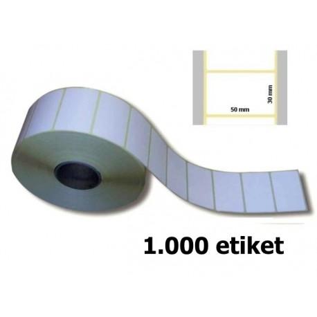 Etikety 50x30 mm; 1tis. ks na kotouči