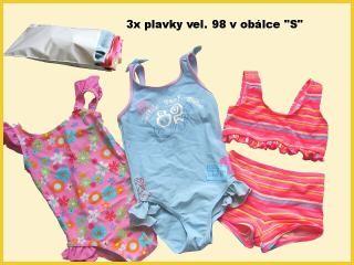 Troje dětské plavečky v malé plastové obálce vel. S
